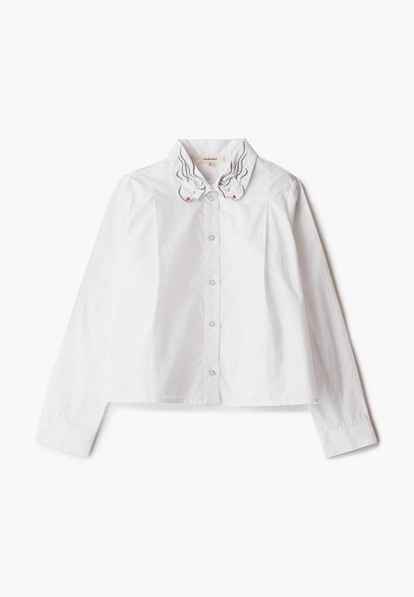 рубашка catimini для девочки, белая