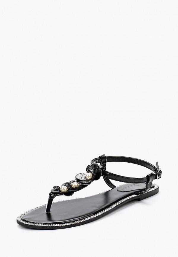 женские сандалии catisa, черные