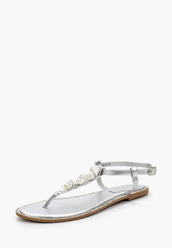 женские сандалии catisa, серебряные