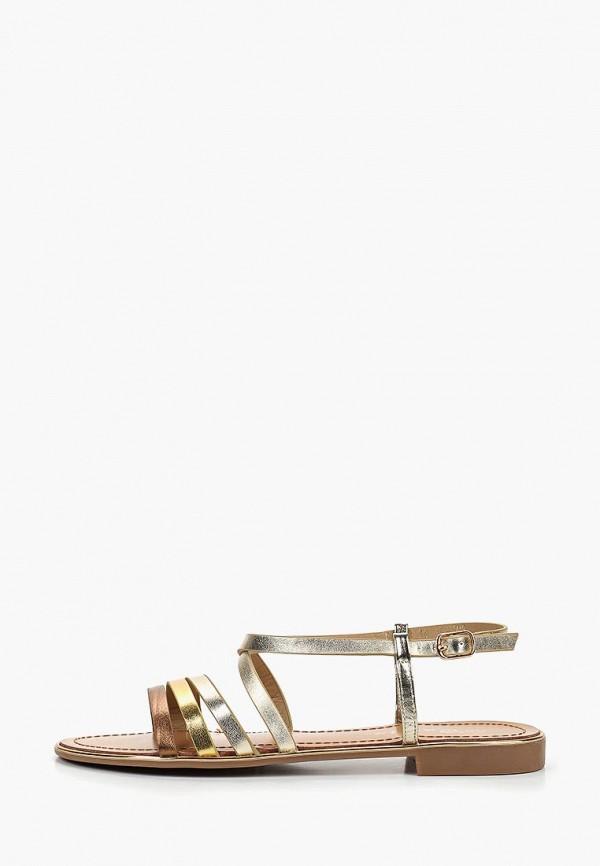 женские сандалии catisa, золотые