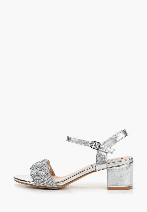 женские босоножки catisa, серебряные
