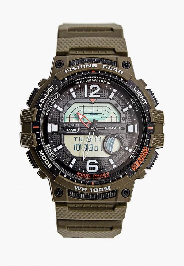 мужские часы casio, зеленые