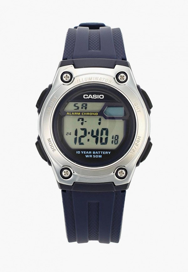 мужские часы casio, синие