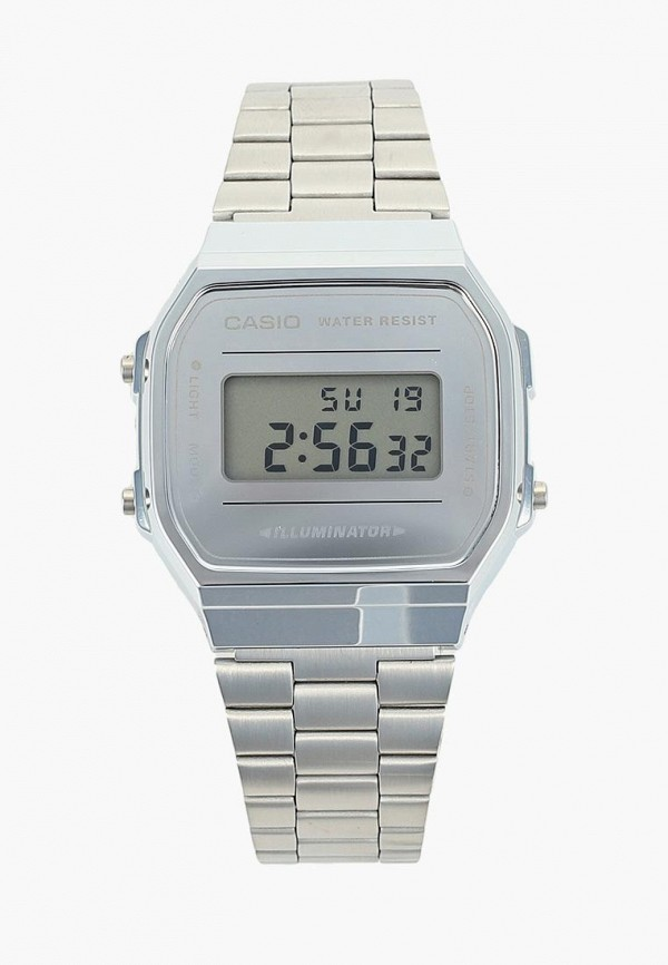 женские часы casio, серебряные