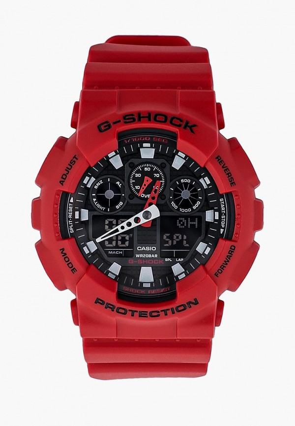 мужские часы casio, красные