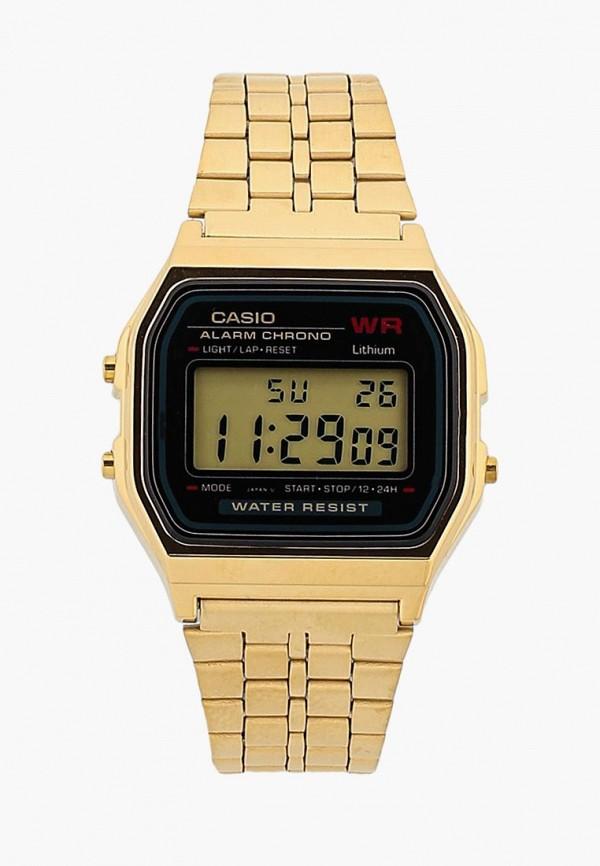 мужские часы casio, золотые