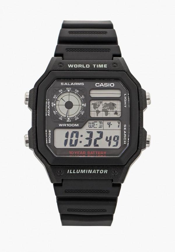 Купить Часы Casio, Casio Collection AE-1200WH-1A, ca077duinx76, черный, Осень-зима 2018/2019