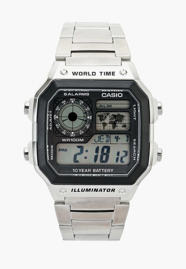 Купить Часы Casio, Casio Collection AE-1200WHD-1A, ca077duinx77, серебряный, Осень-зима 2018/2019