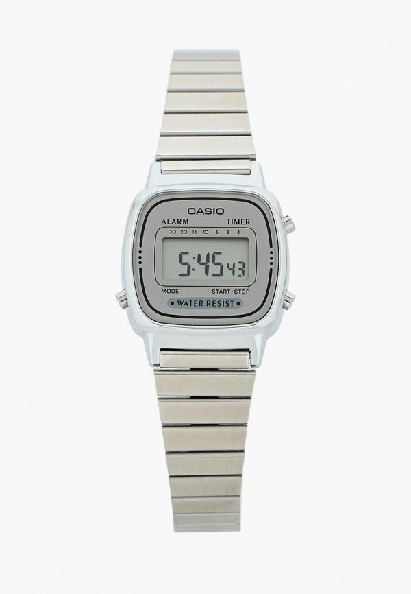 мужские часы casio, серебряные