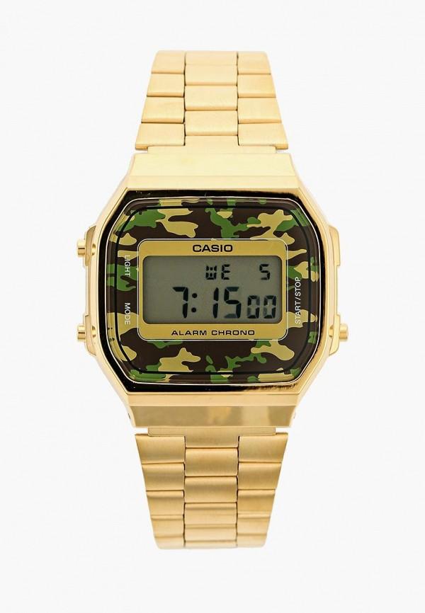 Купить Часы Casio, Casio Collection A-168WEGC-3E, ca077dujej92, золотой, Осень-зима 2018/2019