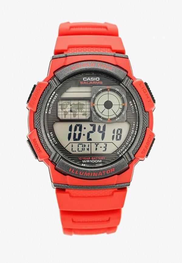 Купить Часы Casio, Casio Collection AE-1000W-4A, ca077dujej93, красный, Осень-зима 2018/2019