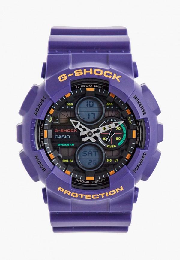 женские часы casio, фиолетовые