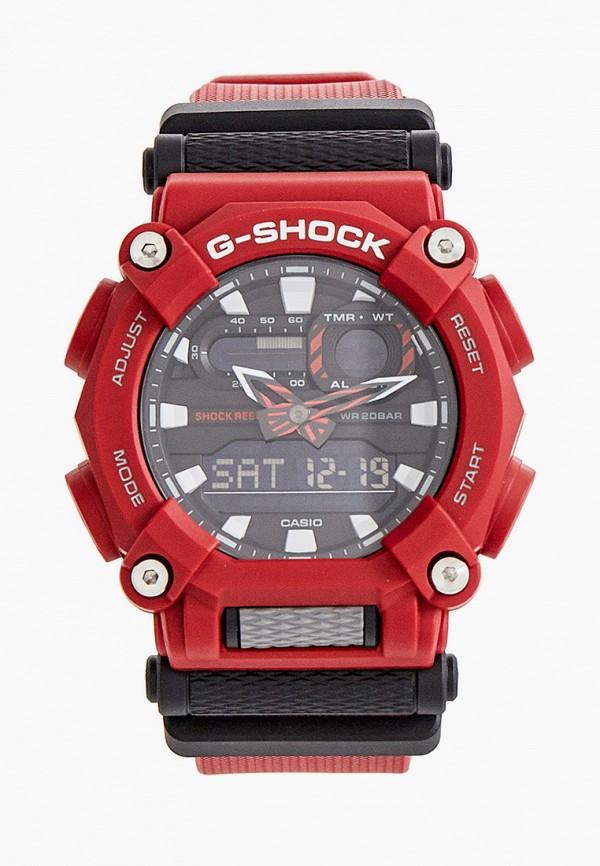 женские часы casio, красные