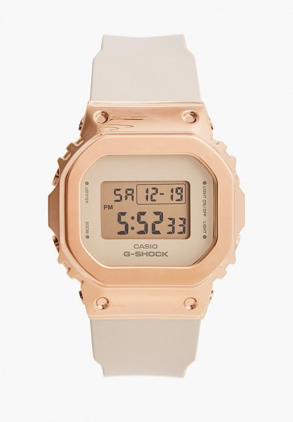 женские часы casio, бежевые