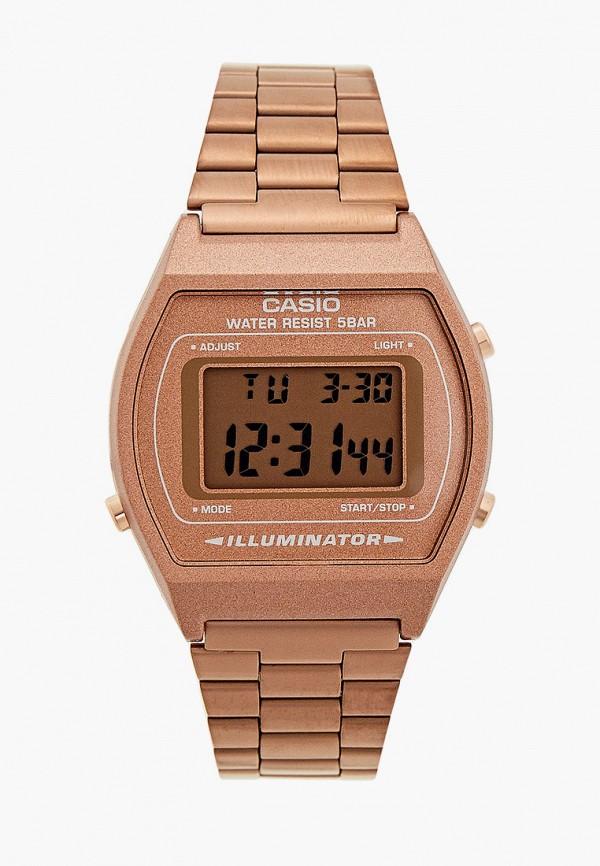 женские часы casio, коричневые