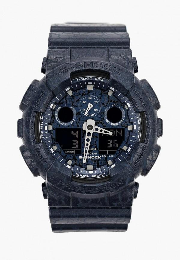 Купить Часы Casio, CASIO G-SHOCK GA-100CG-2A, ca077dusmt04, синий, Осень-зима 2018/2019