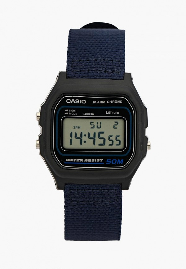 Купить Часы Casio, CASIO Collection W-59B-2A, ca077duxem33, синий, Осень-зима 2018/2019