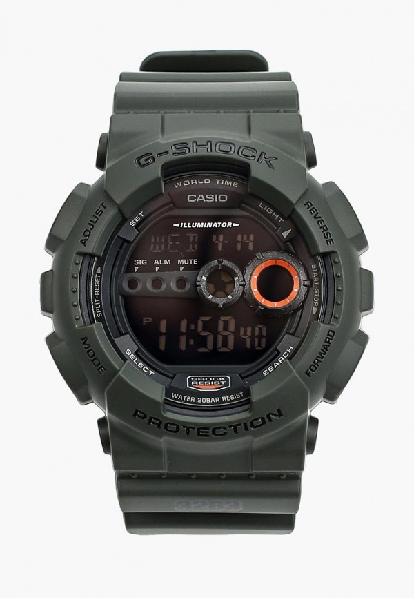 Купить Часы Casio, CASIO G-SHOCK GD-100MS-3E, ca077duyug63, черный, Осень-зима 2018/2019