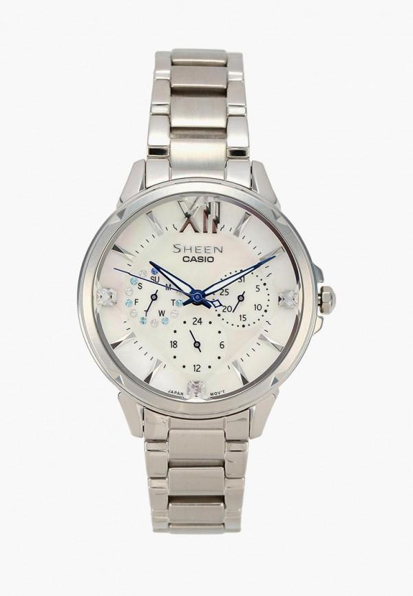 Купить Часы Casio, CASIO SHEEN SHE-3056D-7A, CA077DWACFL8, серебряный, Осень-зима 2018/2019