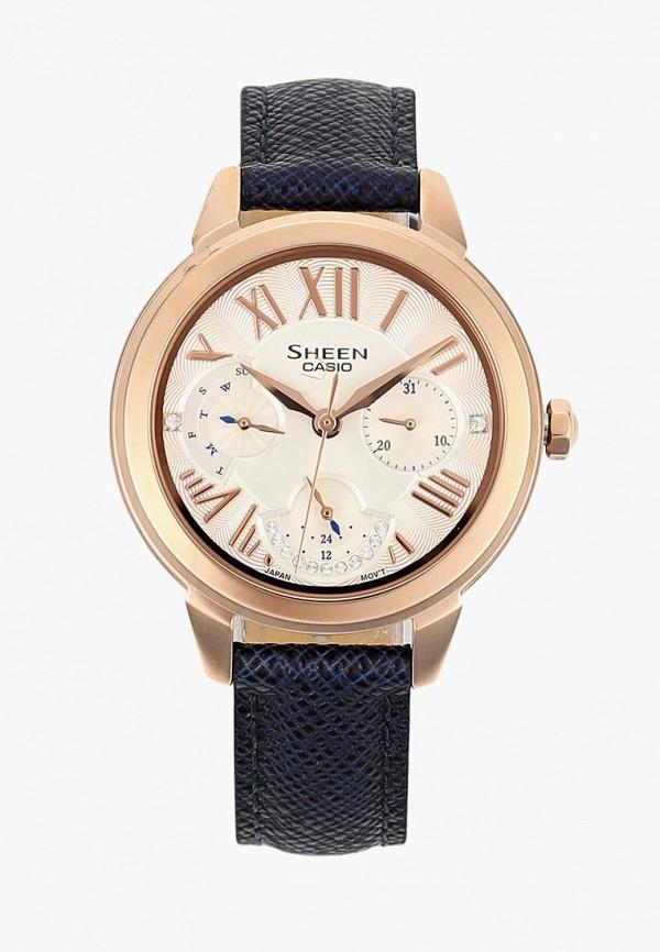 Купить Часы Casio, CASIO SHEEN SHE-3059PGL-7B, CA077DWCFXW7, синий, Осень-зима 2018/2019