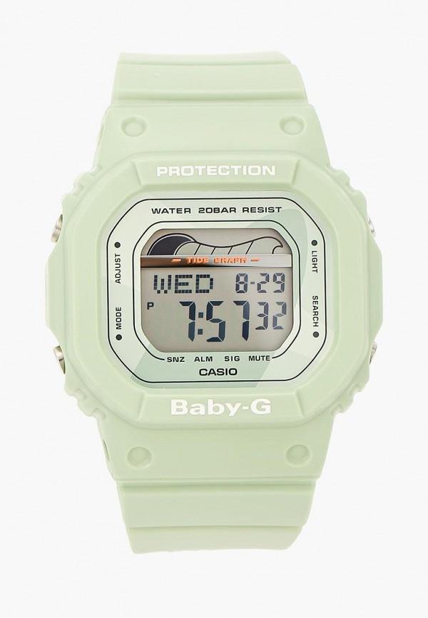 женские часы casio, зеленые
