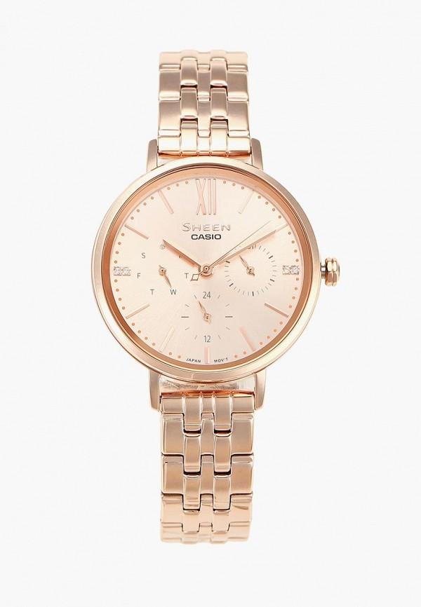 женские часы casio, золотые