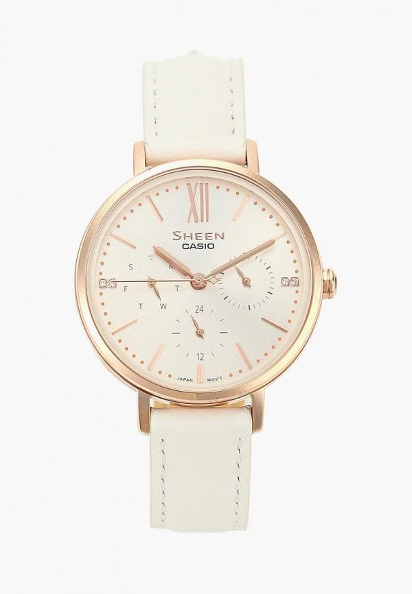 Купить Часы Casio, SHEEN SHE-3064PGL-7AUER, CA077DWCQIL1, белый, Осень-зима 2018/2019