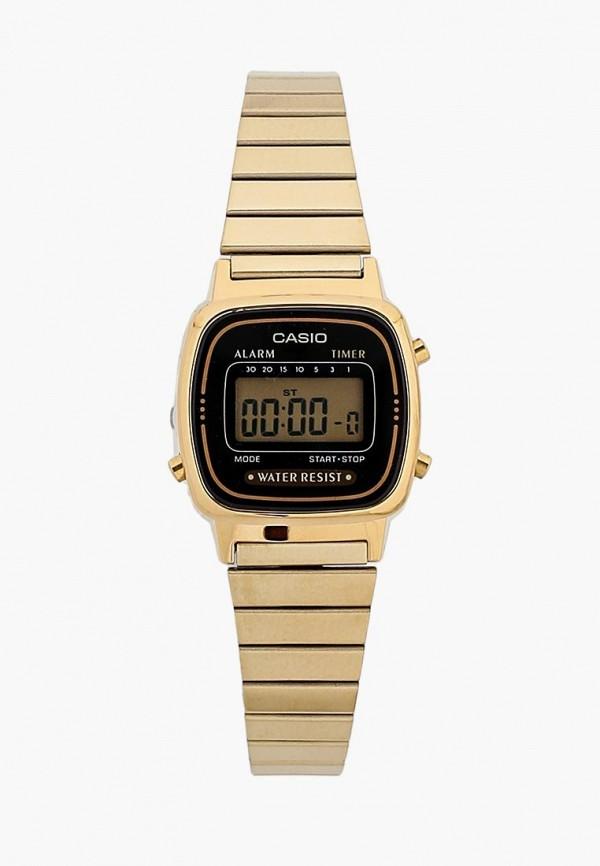 Купить Часы Casio, Casio Collection LA670WEGA-1E, CA077DWGXY04, золотой, Осень-зима 2018/2019