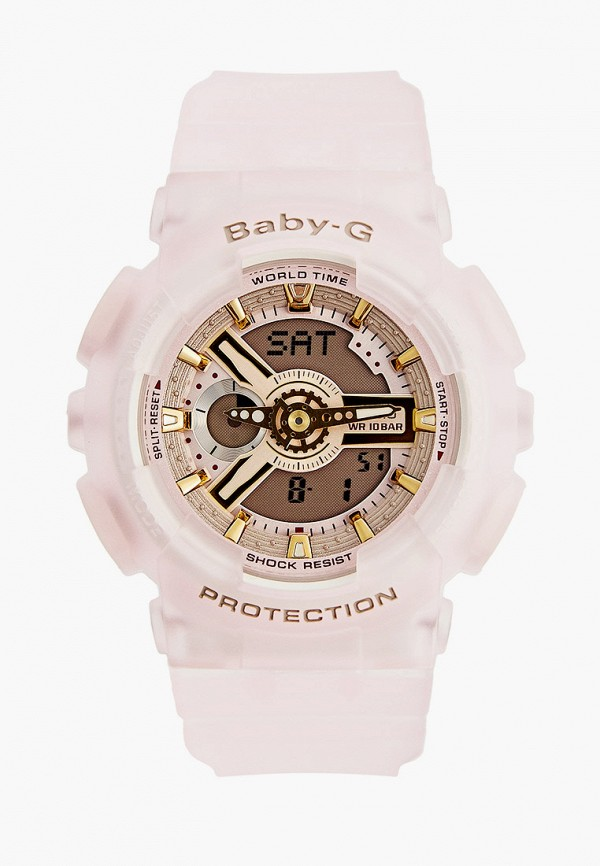 женские часы casio, розовые