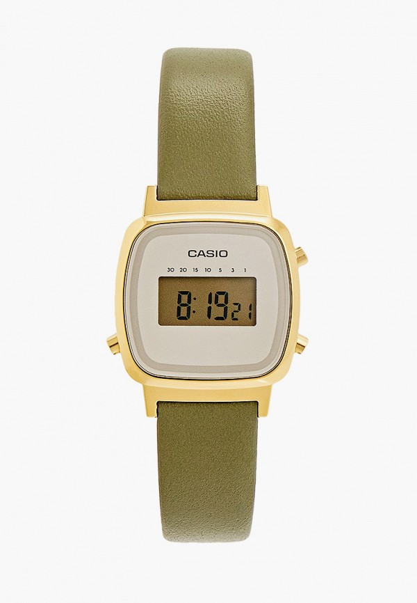 женские часы casio, хаки