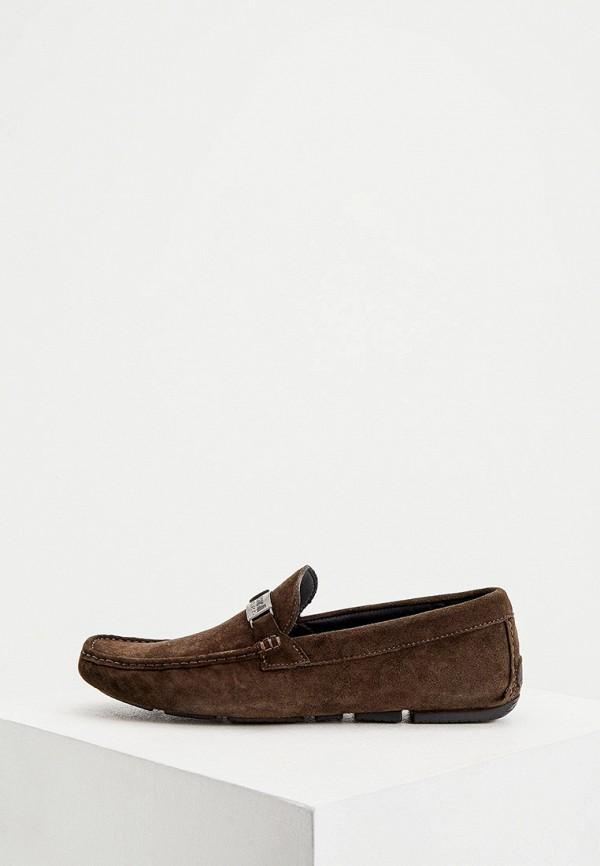 мужские мокасины cavalli class, коричневые
