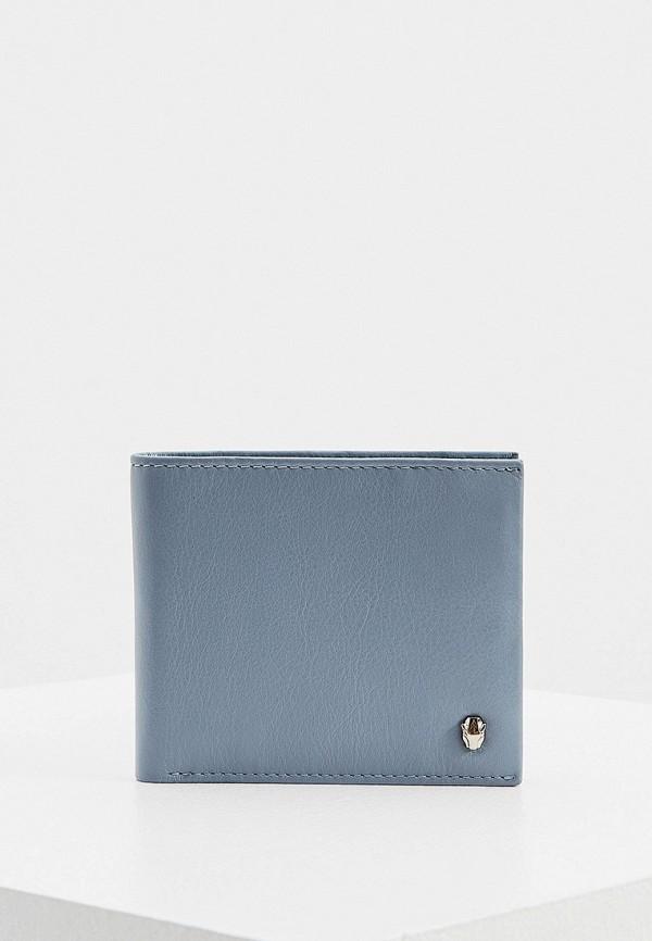 мужской кошелёк cavalli class, голубой