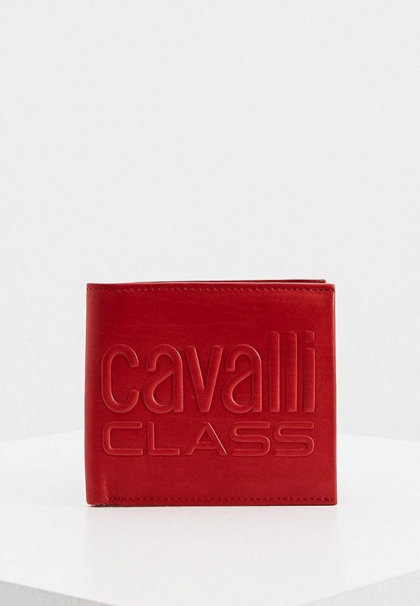 мужской кошелёк cavalli class, красный