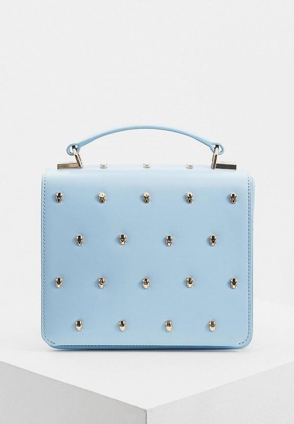 женская сумка cavalli class, голубая