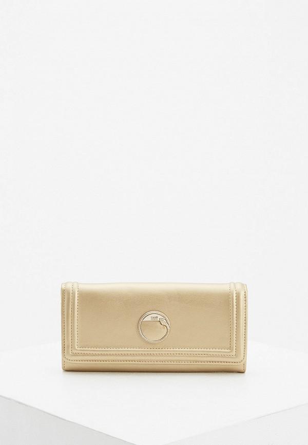 женский кошелёк cavalli class, золотой