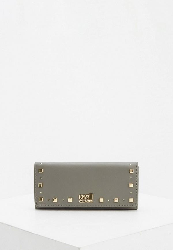 женский кошелёк cavalli class, серый