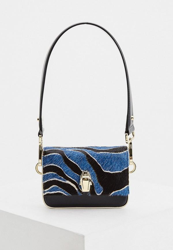 женская сумка с ручками cavalli class, синяя