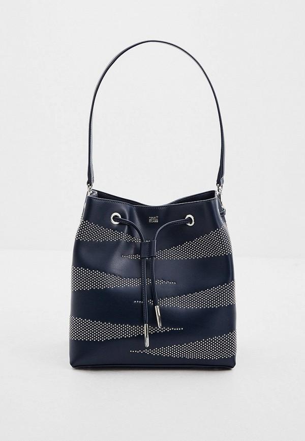 женская сумка-ведро cavalli class, синяя