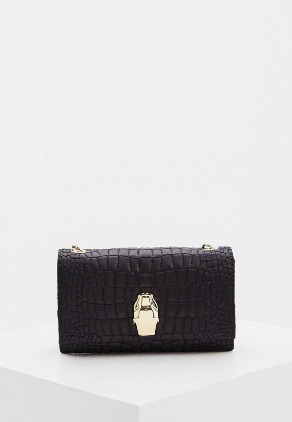 женская сумка через плечо cavalli class, черная