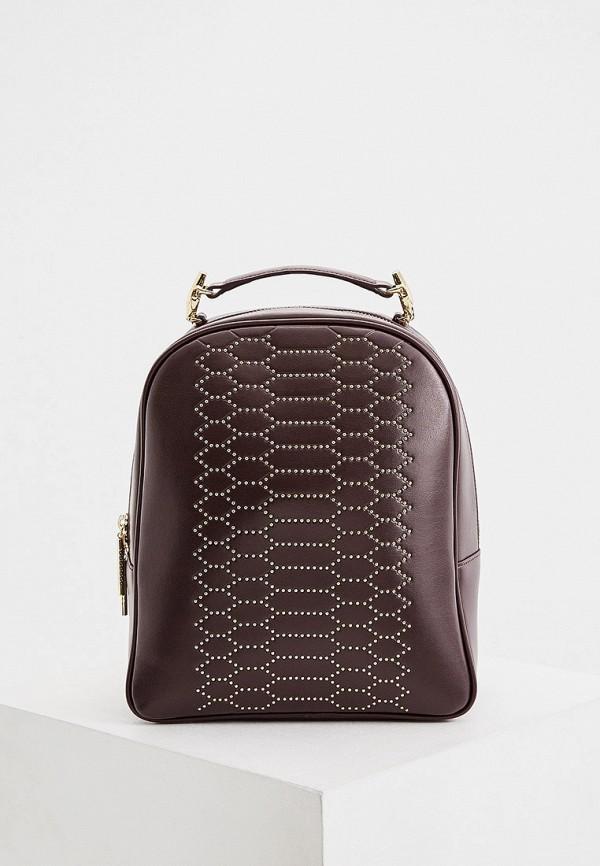женский рюкзак cavalli class, бордовый