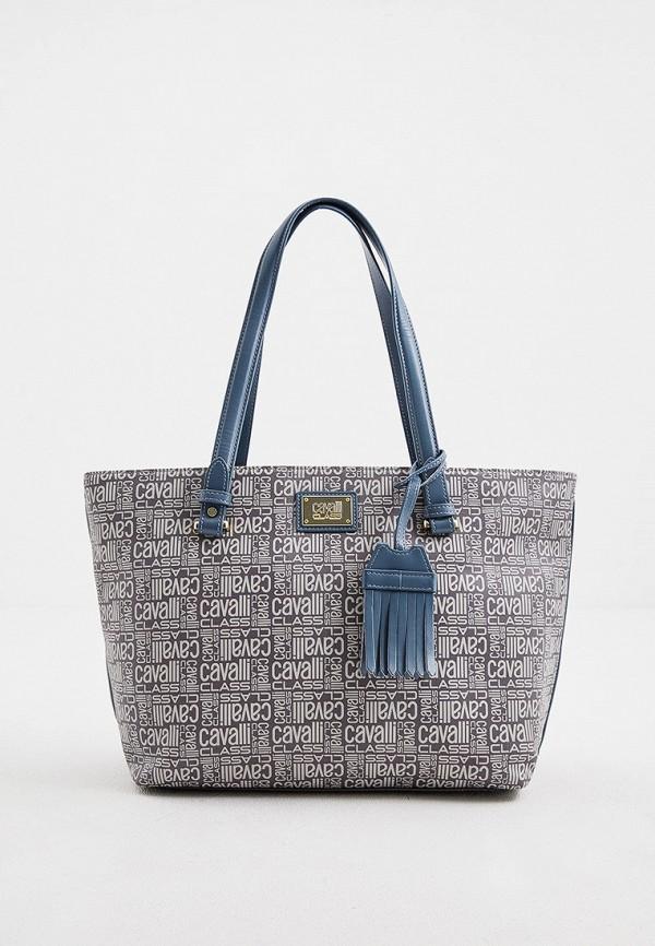 женская сумка cavalli class, синяя