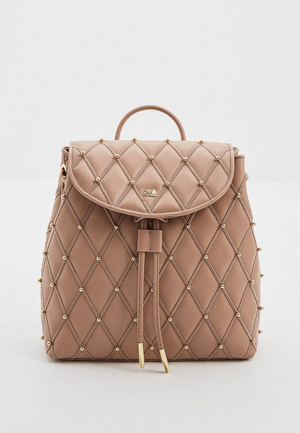 женский рюкзак cavalli class, бежевый