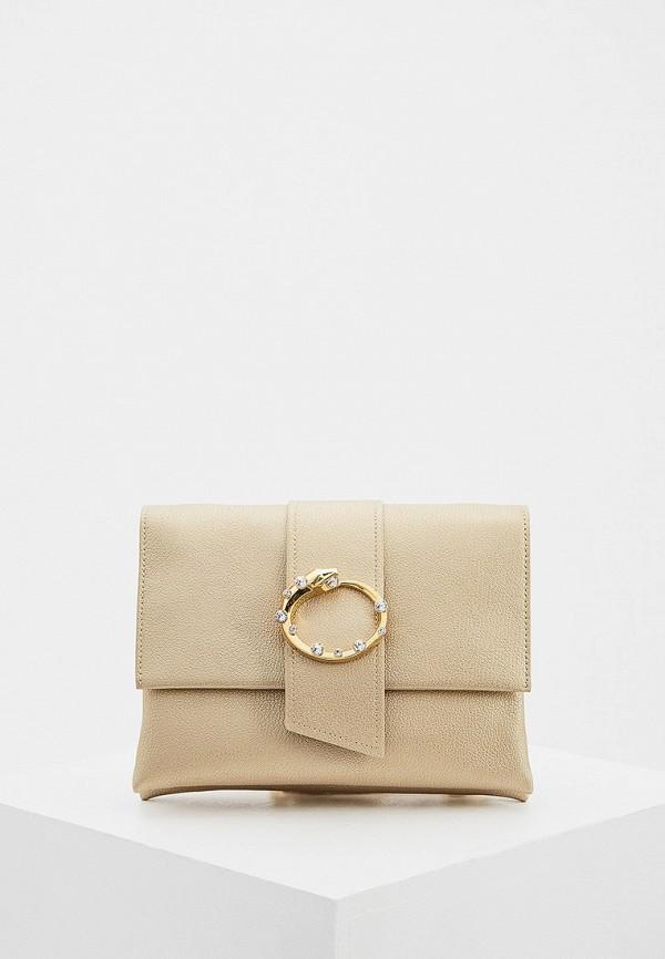 женская сумка cavalli class, золотая