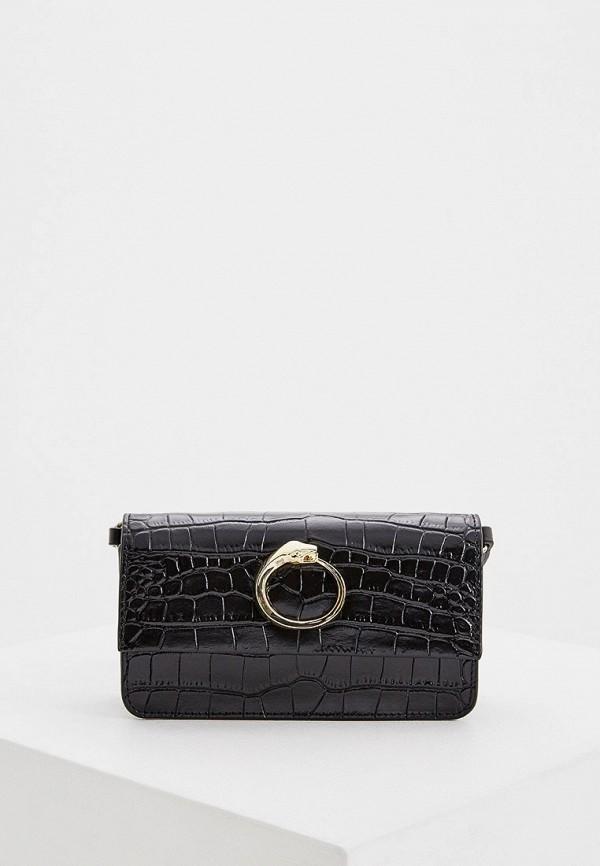 женская поясные сумка cavalli class, черная
