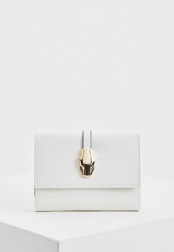 женский кошелёк cavalli class, белый