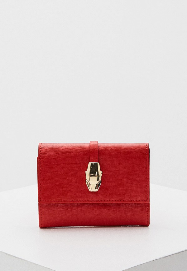 женский кошелёк cavalli class, красный