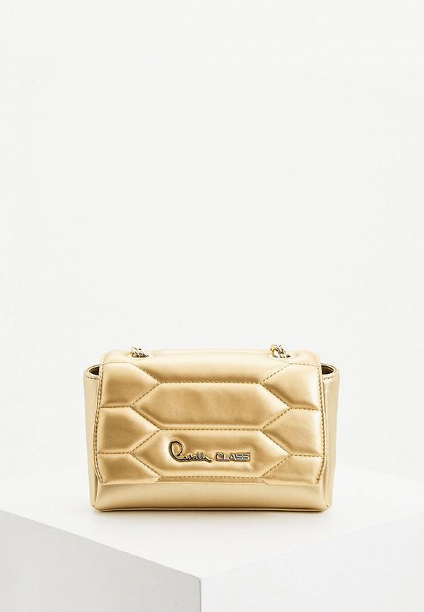 женская сумка через плечо cavalli class, зеленая