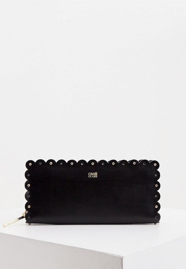 женский кошелёк cavalli class, черный