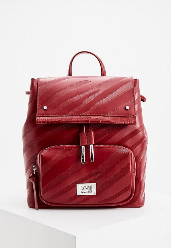 женский рюкзак cavalli class, красный