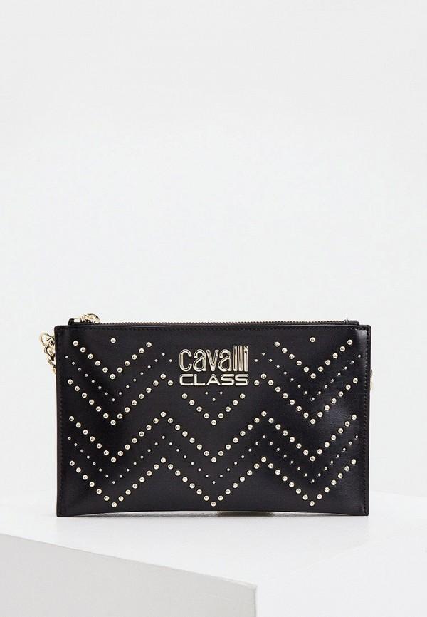 женская сумка cavalli class, черная